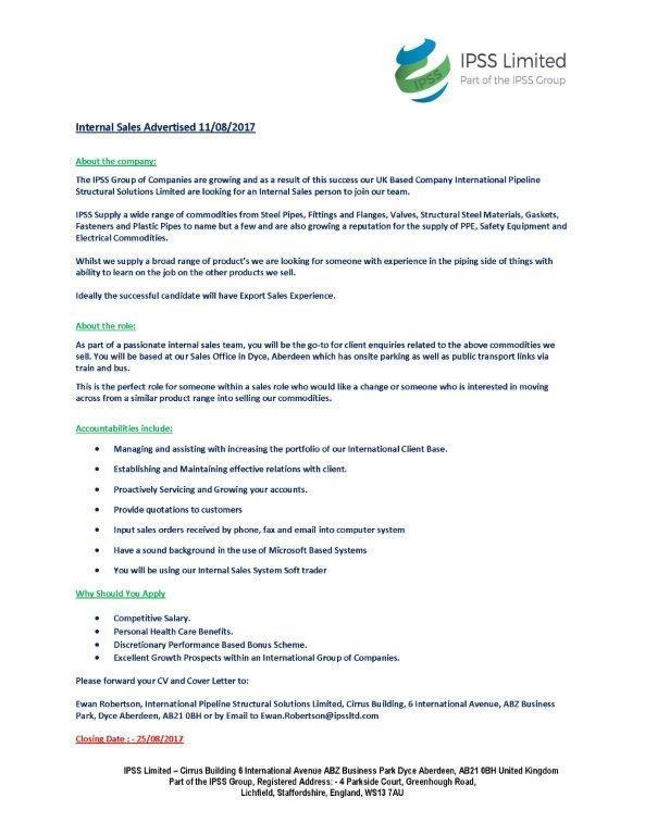 Job Listing – IPSS